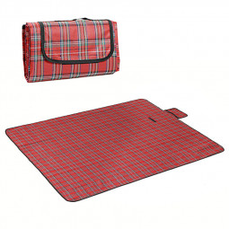 180x150CM Outdoor Beach Picnic Mat Folding Waterproof Camping Sleeping Pad - Red