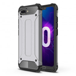 Rugged Shockproof Armor Hybrid Rubber Hard Case Back Cover for Huawei Honor 10 - Grey