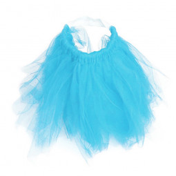 Size L Pet Dog Puppy Cat Princess Lace Mesh Skirt Tutu Party Dress Apparel Clothes - Blue