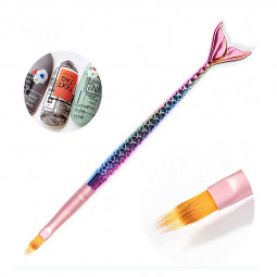 Mermaid Tail Nail Art Liner Brush UV Gel Acrylic Painting Polish Pen Tools - Sawtooth Pen