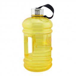 2.2L Big Large Sport Water Bottle BPA Free Leakproof Gym Training Drink Cap Kettle - Yellow