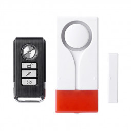 KS-SF18R Wireless Home Security Alarm Red Flash with Sound Window Door Magnet Sensor Detector