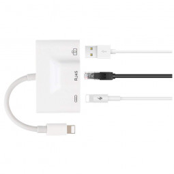 Lightning to RJ45 Ethernet Adapter LAN Wired Network Cable for iPhone iPad