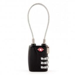 TSA Resettable 3 Digit Combination Lock Travel Luggage Suitcase Code Padlock - Black