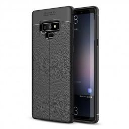 Anti-slip Litchi Grain Texture Soft TPU Rubber Case Back Cover for Samsung Note 9 - Black