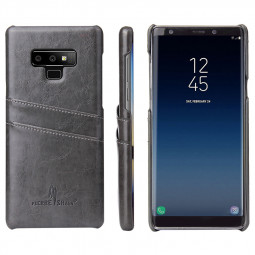 Ultra-Thin Slim Retro PU Leather Back Cover Protection Case for Samsung Note 9 - Grey
