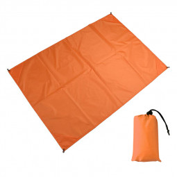 1.4x2M Waterproof Portable Outdoor Folding Picnic Mat Camping Mattress Beach Mat - Orange