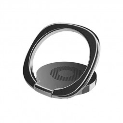 Ultra-thin Metal Magnetic Ring Finger Holder Car Mount Universal Phone Tablet GPS Stand - Black