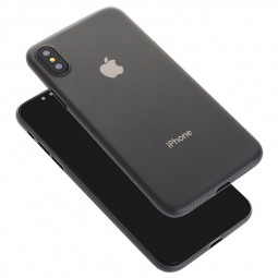 Ultra Thin Grind Frosted PC Hard Case Back Cover Shell for iPhone XS Max - Black
