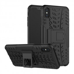 Heavy Duty Hard Case Rugged Hybrid Shockproof Cover for iPhone XS Max - Black