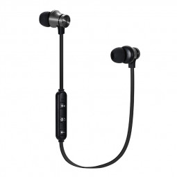 Magnet In-ear Wireless Bluetooth Earphone Stereo Sport Headphone Headset - Black