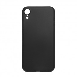 PC Frosted Grind Ultra Thin Hard Case Back Cover Shell for iPhone XR - Black