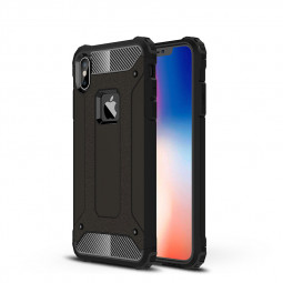 Rugged Armor Hybrid TPU+PC Dual-Layer Case Back Cover for iPhone XS Max - Black