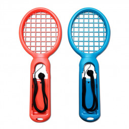 1 Pair Nintend Switch Joy-con ABS Tennis Racket Handle Holder for Nintendo Switch - Red+Blue
