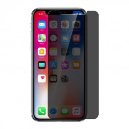2.5D Curved Edges Anti-Spy Privacy Tempered Glass Screen Protector Film for iPhone XR/iPhone 11