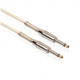 6.35mm Male to 6.35mm Male Audio Aux Cable Converter Cord for Electric Guitar Amplifier - 1M