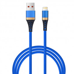 1M iPhone Cable Cord Braided Woven 8pin Charging Data Sync Line Wire - Blue