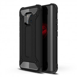 Huawei Mate 20 Pro Rugged Armor TPU + PC Cellphone Hard Case Back Cover-Black