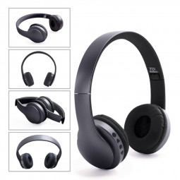 Wireless Bluetooth Headset Support TF Card FM Radio Stereo Headphone Earphone - Black