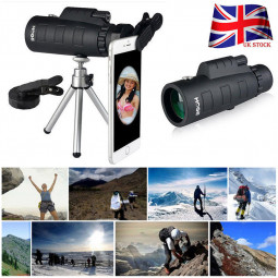 50X60 HD Night Vision Zoom Optical Lens Monocular Telescope + Clip + Tripod for Mobile Phone