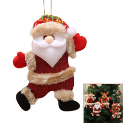 Christmas Sale Items Ornaments Santa Claus Snowman Elk Bear Tree Toy Doll Hanging Decorations - Santa Claus