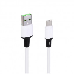 1m Double - Color Type C USB 3.1 Charging Cable - White