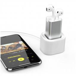 2 in 1 Charger Dock Desktop Table Holder Stand Station Charging Adapter for Apple Earphone