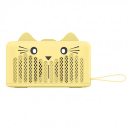 SG-05B Wireless Bluetooth Mini Speaker Stereo Audio Cartoon Cat Speaker - Yellow