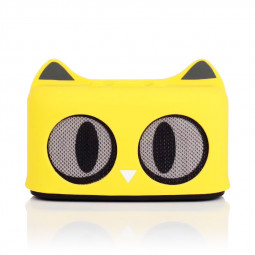 SG-09 Wireless Bluetooth Mini Speaker Stereo Audio Cartoon Cat Speaker Built-in Lithium Battery - Yellow