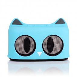 SG-09 Wireless Bluetooth Mini Speaker Stereo Audio Cartoon Cat Speaker Built-in Lithium Battery - Blue