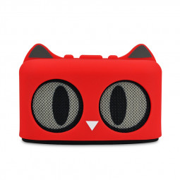 SG-09 Wireless Bluetooth Mini Speaker Stereo Audio Cartoon Cat Speaker Built-in Lithium Battery - Red