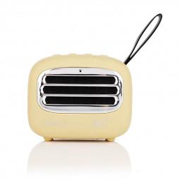 F01 Vintage Creative Portable Subwoofer Audio Radio Mini Wireless Bluetooth Speaker - Yellow
