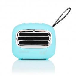 F01 Vintage Creative Portable Subwoofer Audio Radio Mini Wireless Bluetooth Speaker - Blue