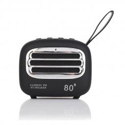 F01 Vintage Creative Portable Subwoofer Audio Radio Mini Wireless Bluetooth Speaker - Black