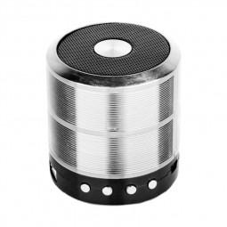WS887 Mini Wireless Bluetooth Speaker with FM Function Built-in Li Battery - Silver