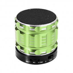 S28 Alloy Portable Wireless Bluetooth Stereo Speaker Support FM Radio Microphone AUX - Green