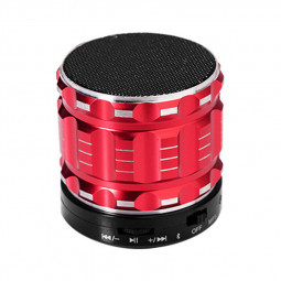 S28 Alloy Portable Wireless Bluetooth Stereo Speaker Support FM Radio Microphone AUX - Red