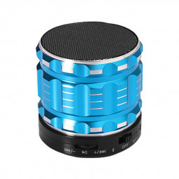 S28 Alloy Portable Wireless Bluetooth Stereo Speaker Support FM Radio Microphone AUX - Blue