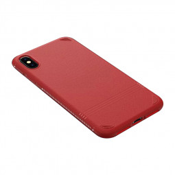 Ultra Thin Soft TPU Back Matte Silicone Cases Simple Cover for iPhone XS MAX - Red