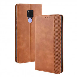 Magnetic Retro Wallet Flip Leather with Phone Case Card Slot for Huawei Mate 20 X - Brown