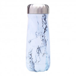 500ML Marble Water Bottle Flask Stainless Steel Double Wall Vacuum Insulated Bottle - White