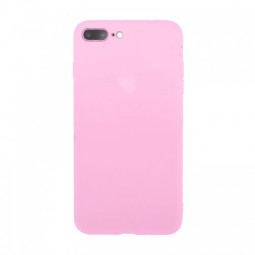 Slim TPU Case Soft Rubber Shockproof Anti Scratch Back Cover for iPhone 7/8 Plus - Pink