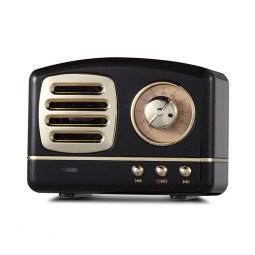 HM11 Retro Portable Nostalgic Radio Mini Bluetooth Speaker Creative Gift - Black