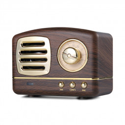 HM11 Retro Portable Nostalgic Radio Mini Bluetooth Speaker Creative Gift - Wood