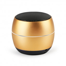400 mAh Portable Metal Mini Wireless Bluetooth Speaker Hifi Sound Bluetooth 4.2 - Gold