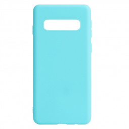 Ultra Thin Slim TPU Back Cover Phone Case for Samsung Galaxy S10 Plus - Mint Green