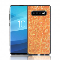 Luxury Ambilight Colorful Discoloration Soft Back Cover Case for Samsung Galaxy S10 - Gold