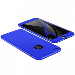 Hybrid 360 Degree Shockproof Case Protective Cover for Apple iPhone 7/8 - Barcelona Blue