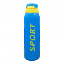 500ML Portable Travel Bounce Switch Water Flask Stainless Steel Vacuum Insulated Water Bottle - Blue