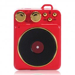 Elvis Retro Wireless Bluetooth Speaker Portable Subwoofer Creative Loudspeaker Audio Speaker Gift Support TF USB - Red